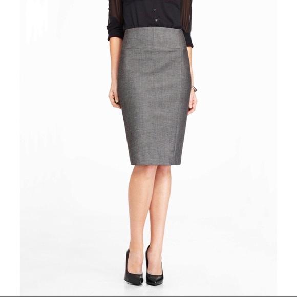 d19c72aad1 Express Skirts | Nwt High Waist Charcoal Gray Pencil Skirt | Poshmark